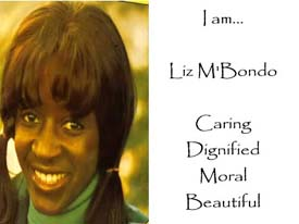 Liz M'Bondo - Caring, Dignified, Moral, Beautiful